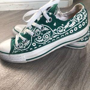 GREEN FLORAL Converse All-Star Sz.6